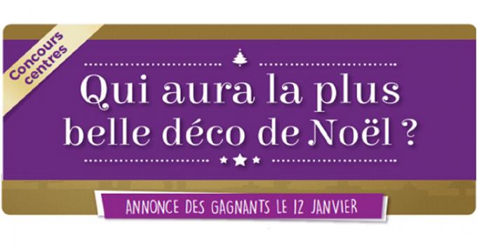 1er Challenge décorations de Noël dans les centres !