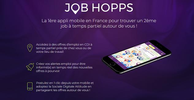 Job HOPPS : l'appli mobile pour trouver un 2ème job à temps partiel !